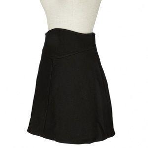 CARVEN structured wool black skirt